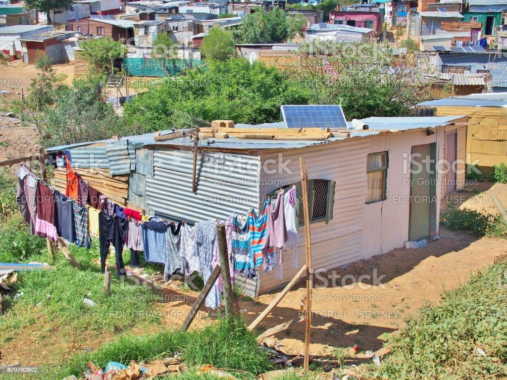 Informal settlement - Enkanini, Western Cape, South Africa. stock photo