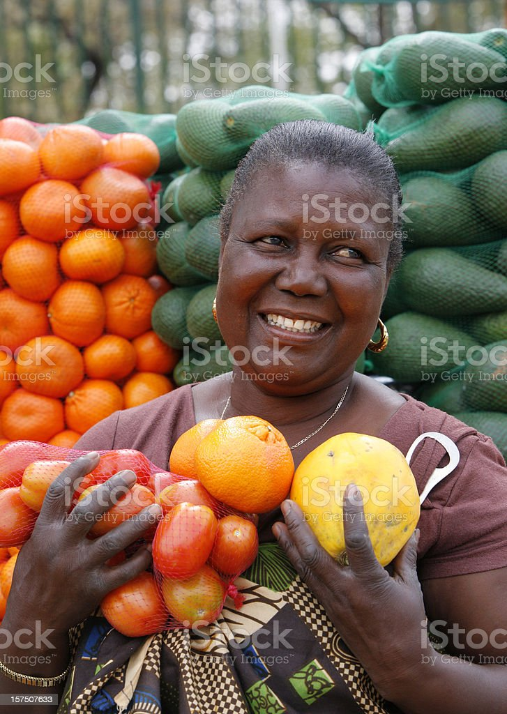 Informal vegetable seller South Africa royalty-free stock photo