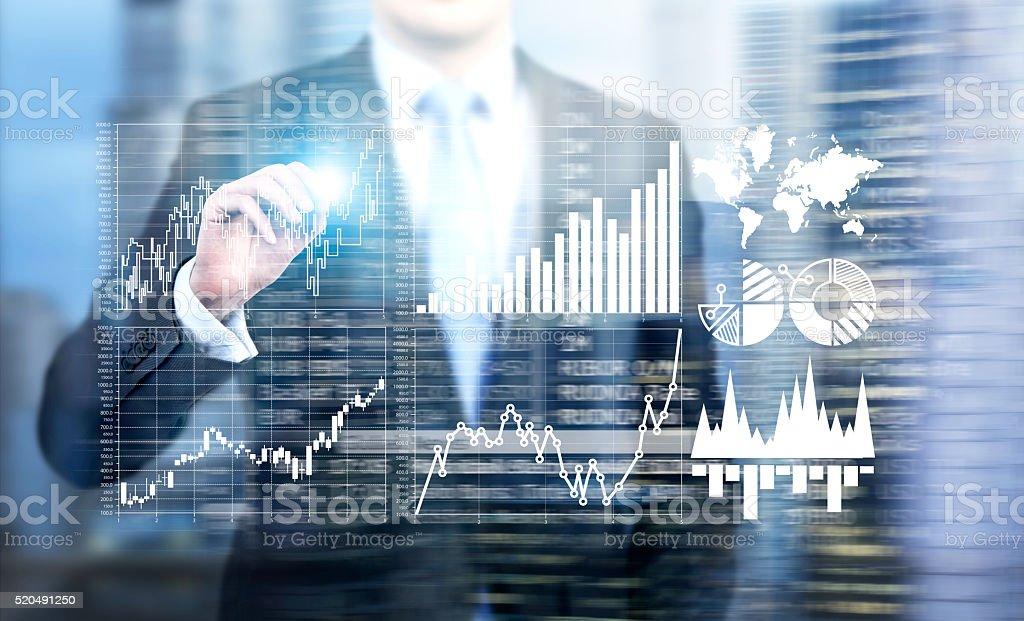 Information analysis stock photo