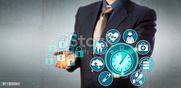 istock Information Analyst Offers Near Real Time Data 871300344
