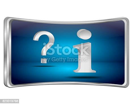 istock information and question button - 3D illustration 823319768