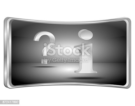 istock information and question button - 3D illustration 872417892