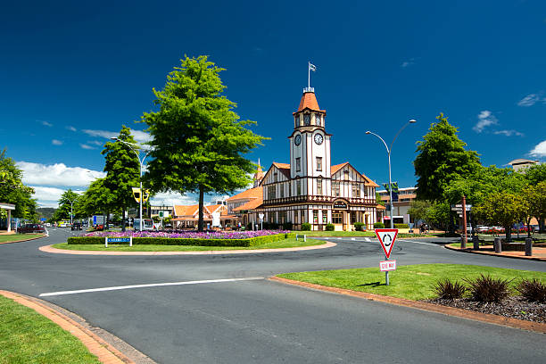 Information and Tourist Centre, Rotorua, New Zealand Information and Tourist Centre, Rotorua, New Zealand rotorua stock pictures, royalty-free photos & images