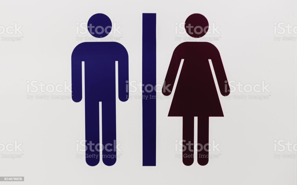Information board for toilets sign stock photo