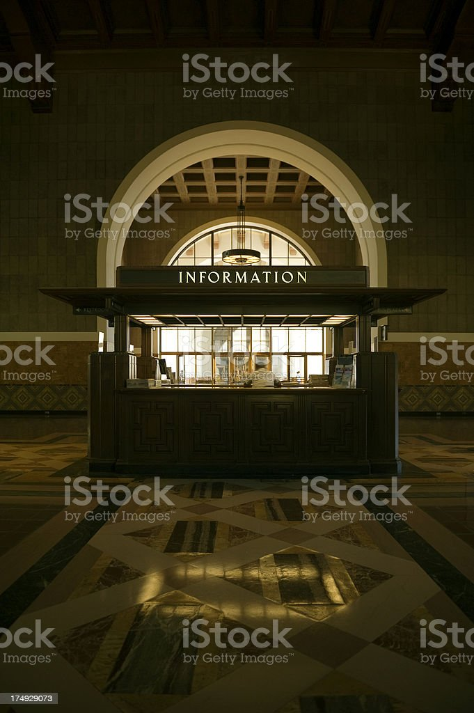 Information booth royalty-free stock photo