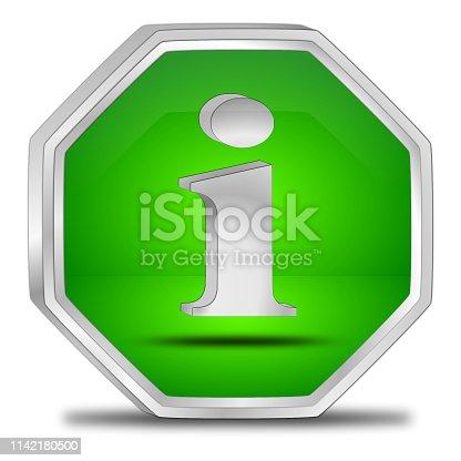 istock Information Button - 3D illustration 1142180500