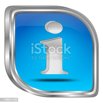 istock Information Button - 3D illustration 1168924435