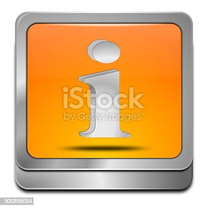 istock Information Button - 3D illustration 900856034