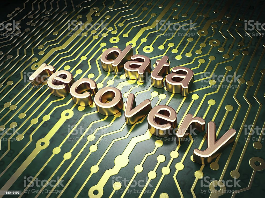 Information concept: circuit board with word Data Recovery royalty-free stock photo