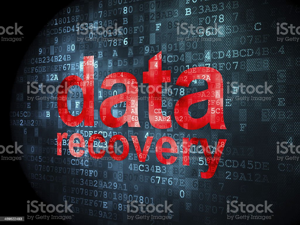 Information concept: Data Recovery on digital background stock photo