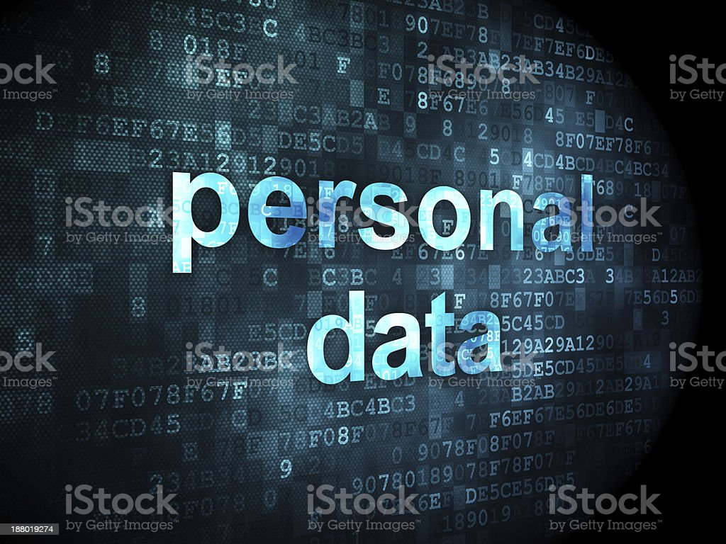 Information concept: personal data on digital background royalty-free stock photo