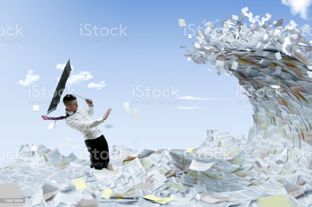 Information flood stock photo