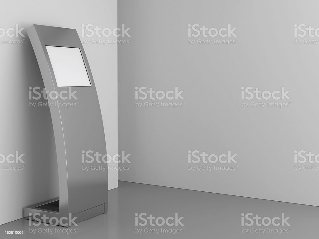 information kiosk stock photo