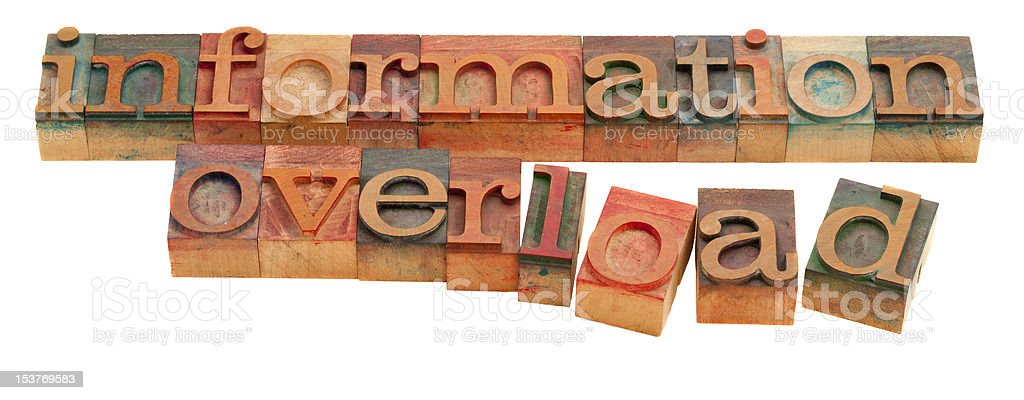 information overload royalty-free stock photo
