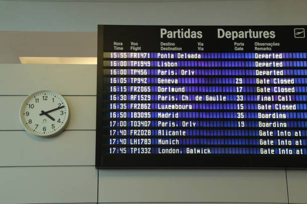 Information panel for departures and arrivals at the airport – zdjęcie