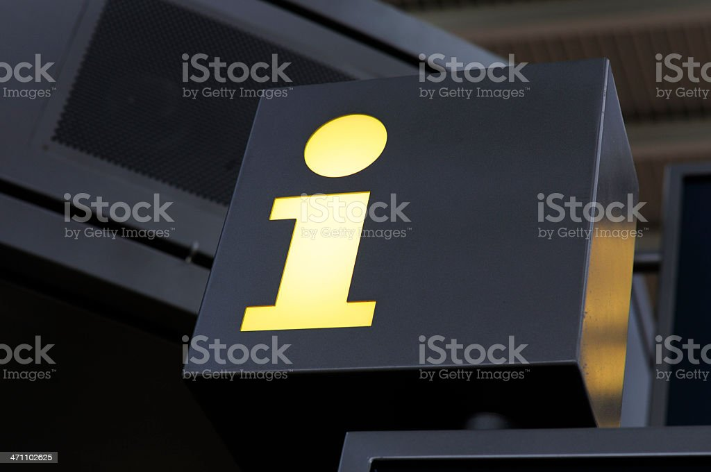 information point, airport royalty-free stock photo