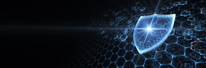 Big data. Security Concept. 3D render