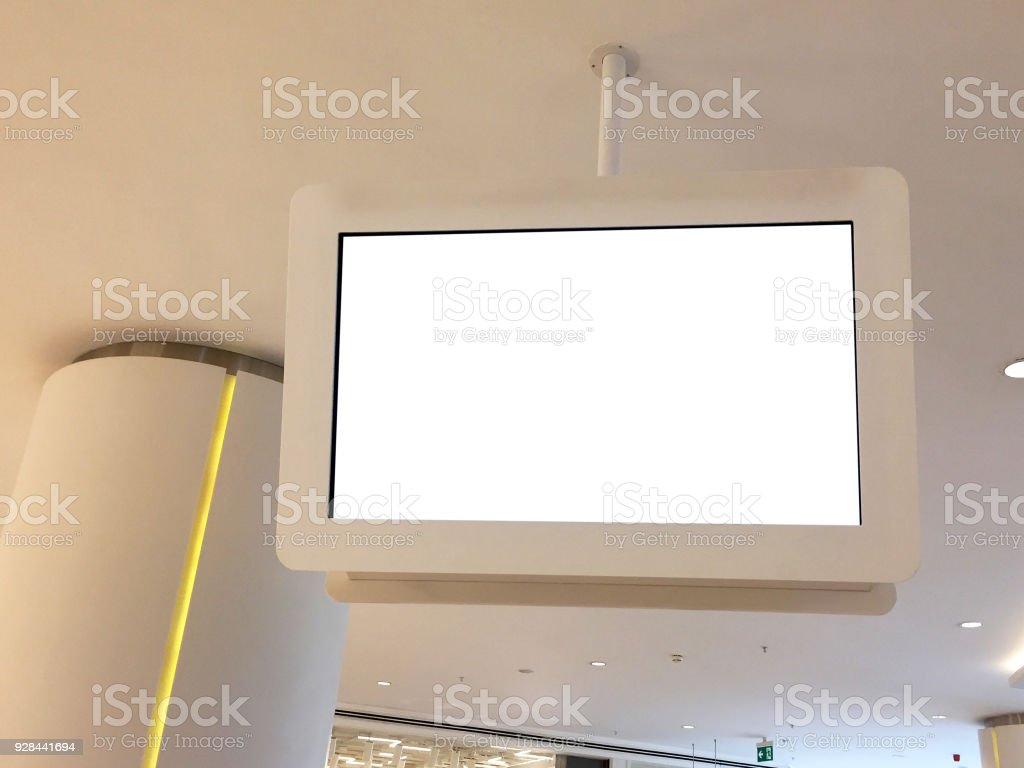 Information Screen with Clipping Path stock photo