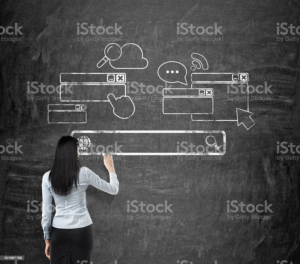 information search on the Internet stock photo