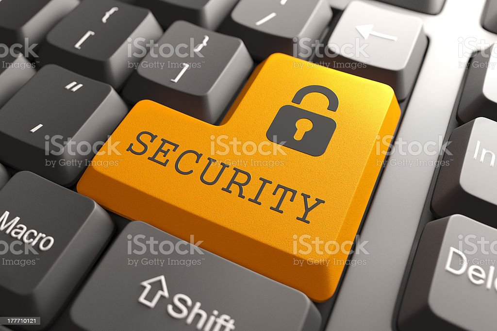 Information Security Button. royalty-free stock photo