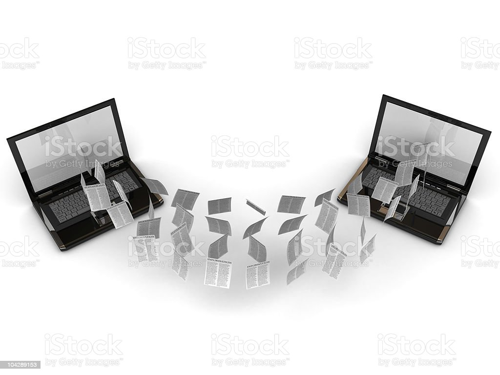 information sharing concept royalty-free stock photo