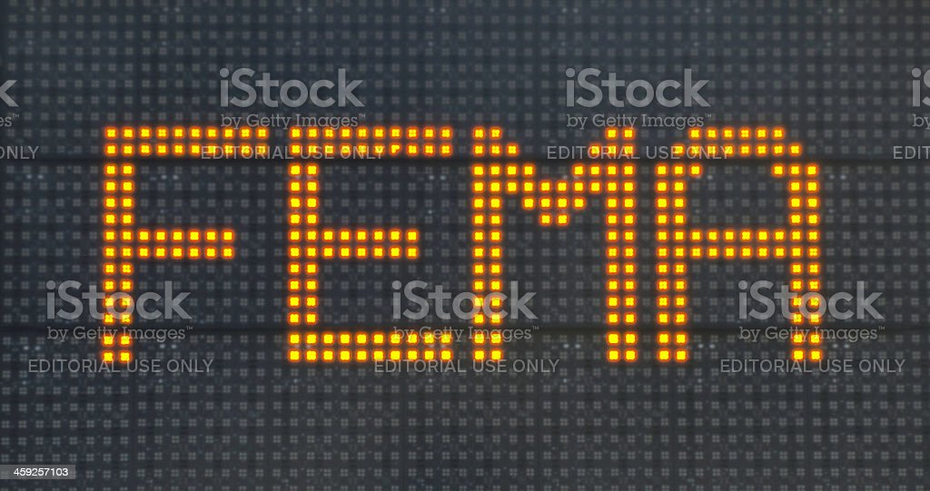 FEMA Information Sign for Hurricane Victims royalty-free stock photo
