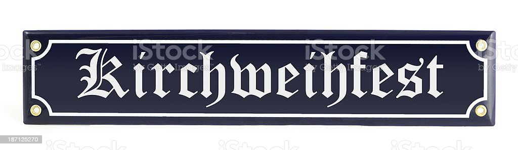 Information sign Kirchweihfest royalty-free stock photo