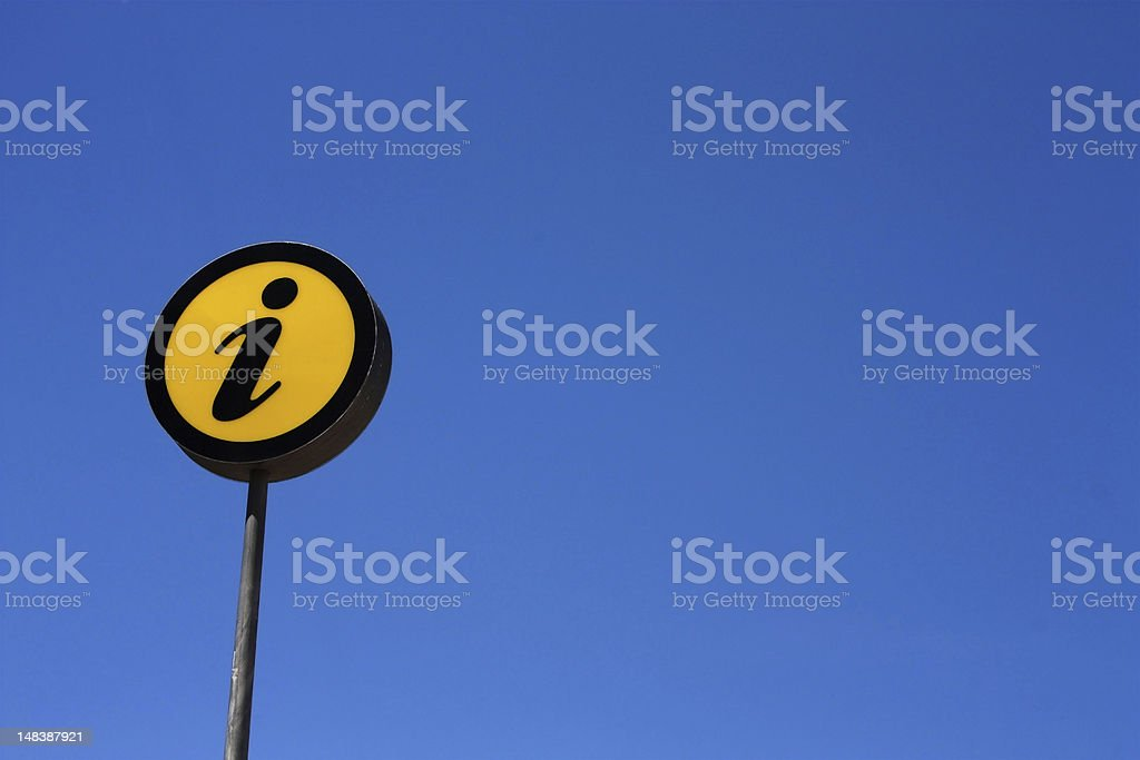 Information, sign royalty-free stock photo