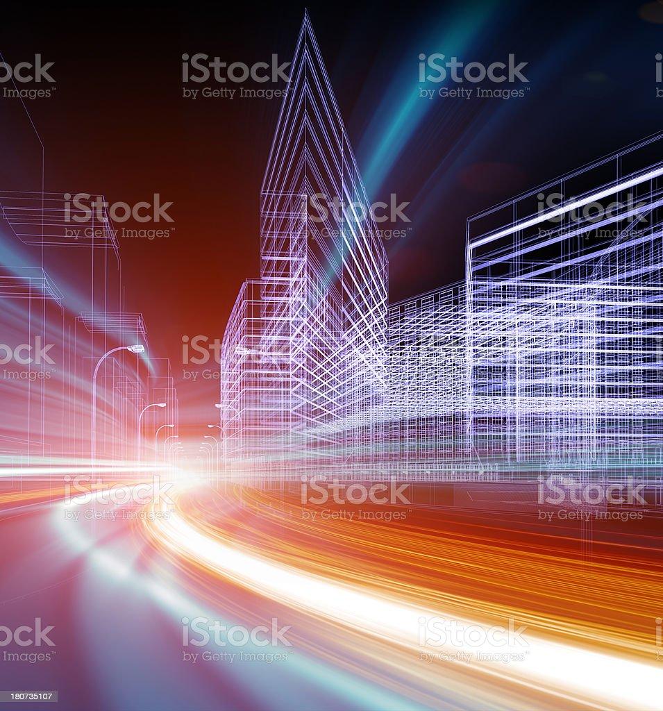 information superhighway stock photo