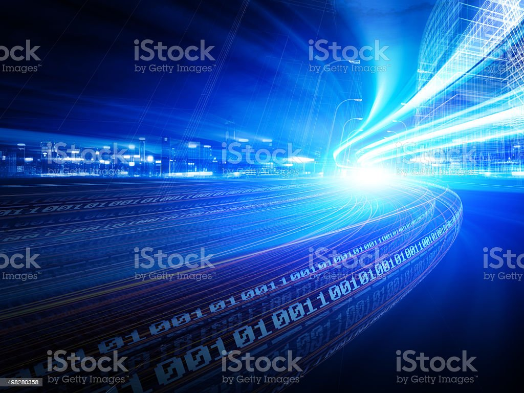 Information superhighway stock photo