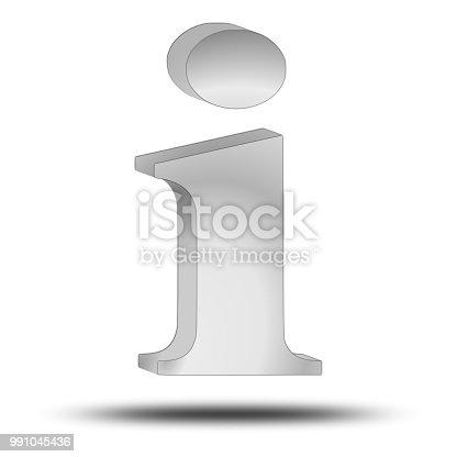 istock Information Symbol - 3D illustration 991045436