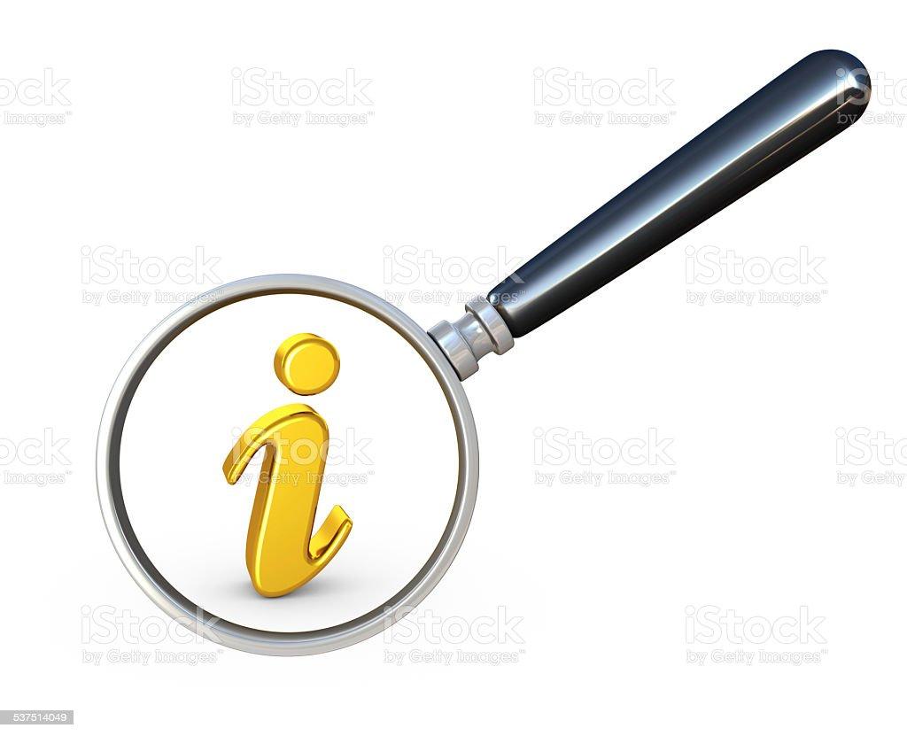 Information Symbol stock photo