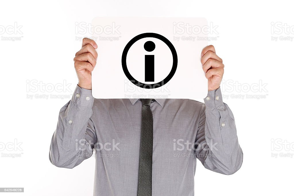 Information Symbol stock photo