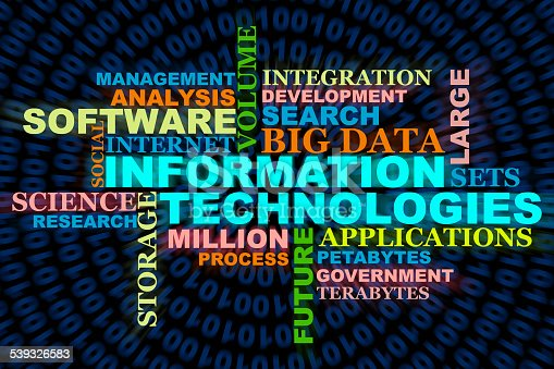 information, technologies, big data, wordclouds