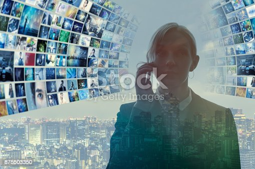 istock Information technology abstract. 875503350