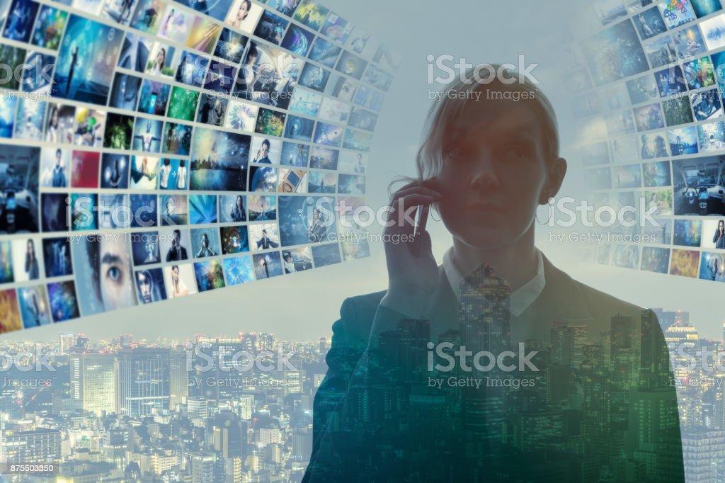 Information technology abstrakt. bildbanksfoto