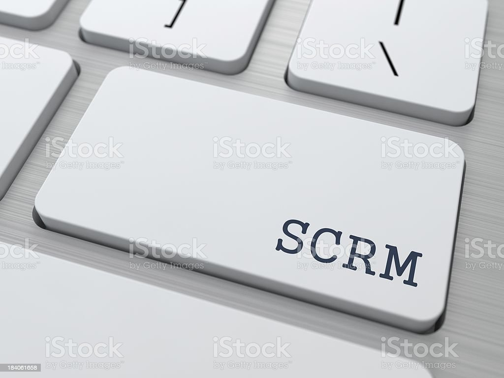 SCRM. Information Technology Concept. stock photo