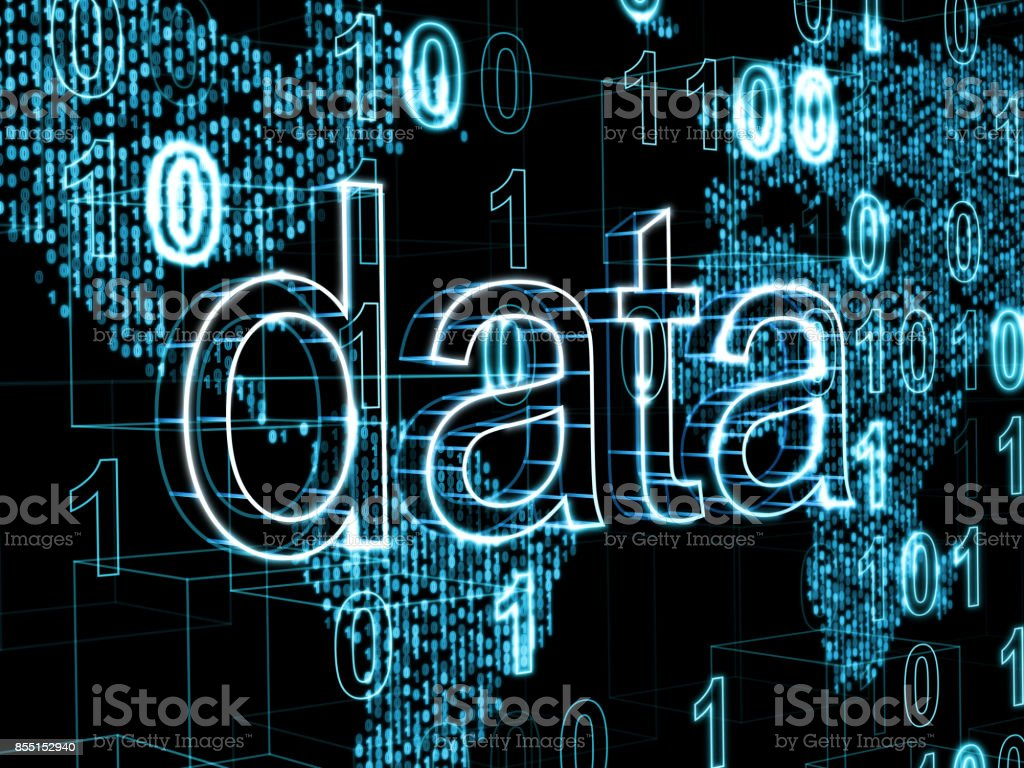 Information Technology Concept Word Data On Digital World