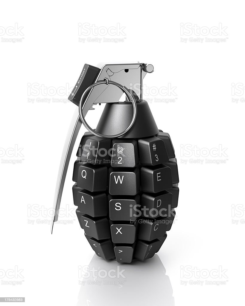 Information weapon royalty-free stock photo