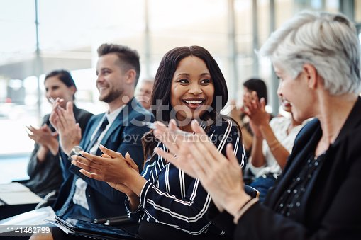 istock Informative and inspiring, just like a successful conference should be 1141462799