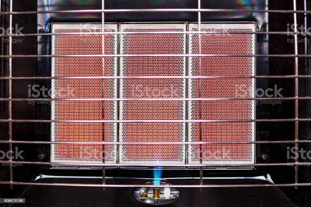 Infrared gas heater close-up stock photo