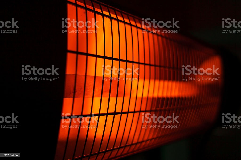 Infrared heaters stock photo