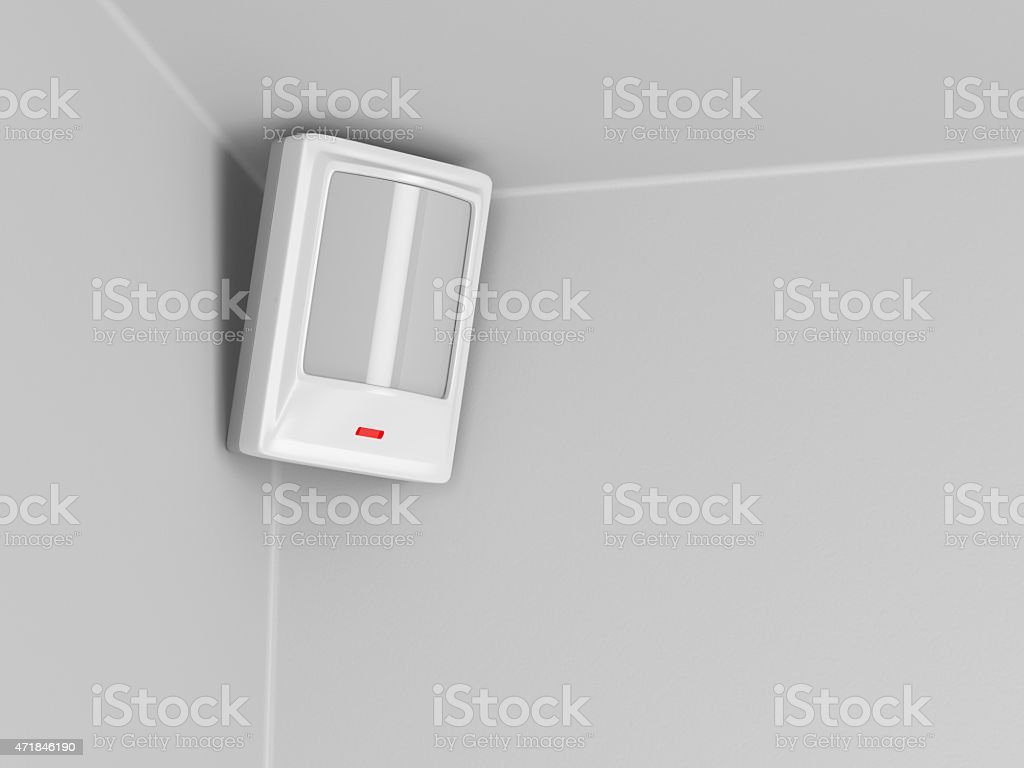 Infrared motion sensor stock photo
