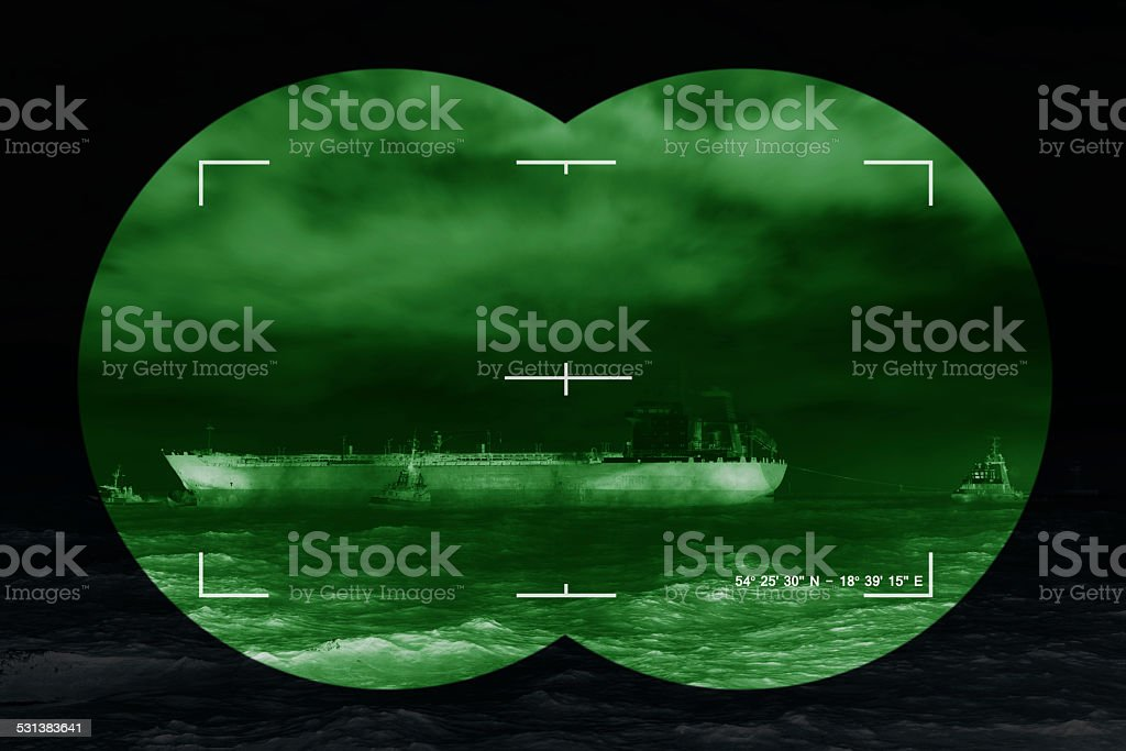 Infrared night view stock photo