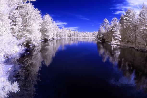 Infrared River stock photo