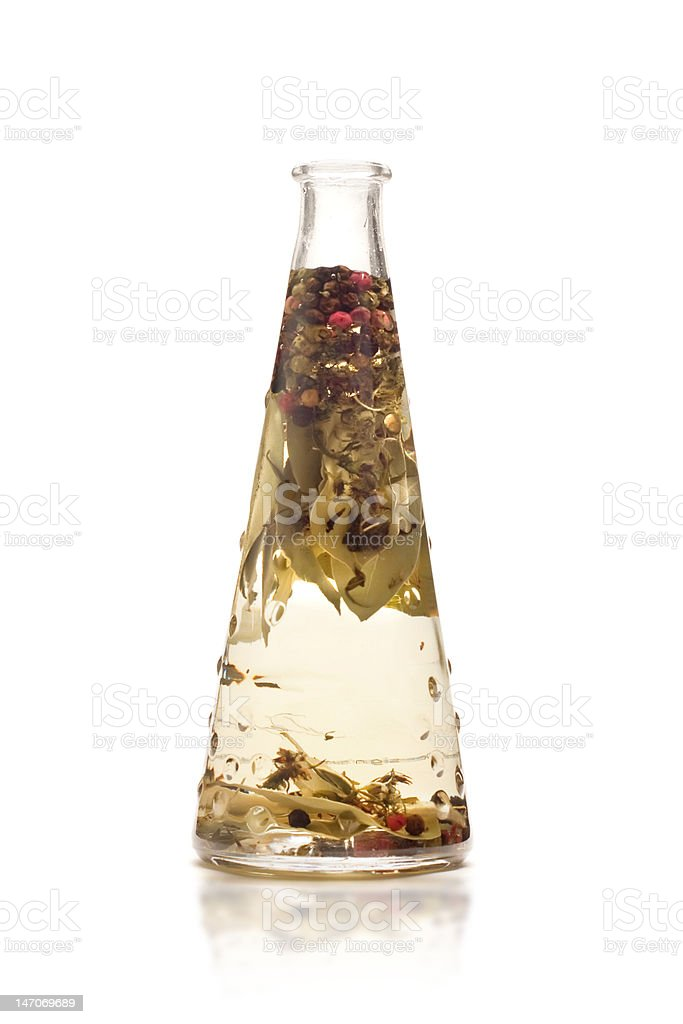 infused oil isolated on white royalty-free stock photo