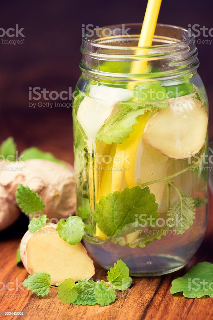 Infused Water for Detoxing your Body royalty-free stock photo