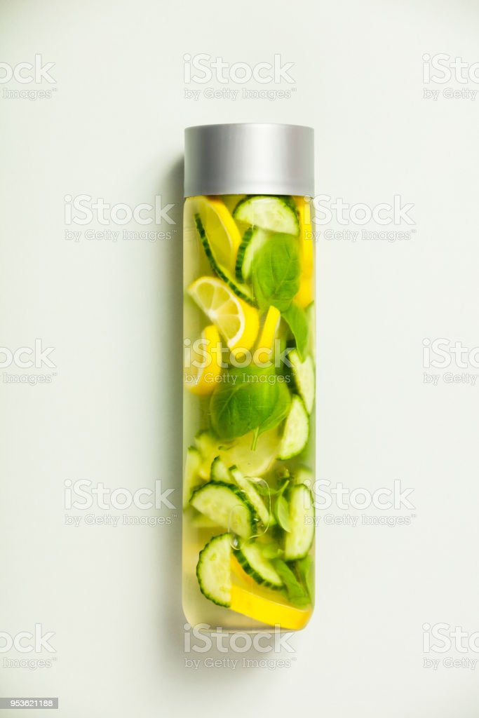 Infused water-vertical composition stock photo