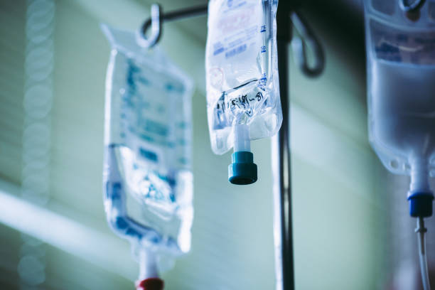 Infusion of a hospital Infusion of a hospital saline drip stock pictures, royalty-free photos & images