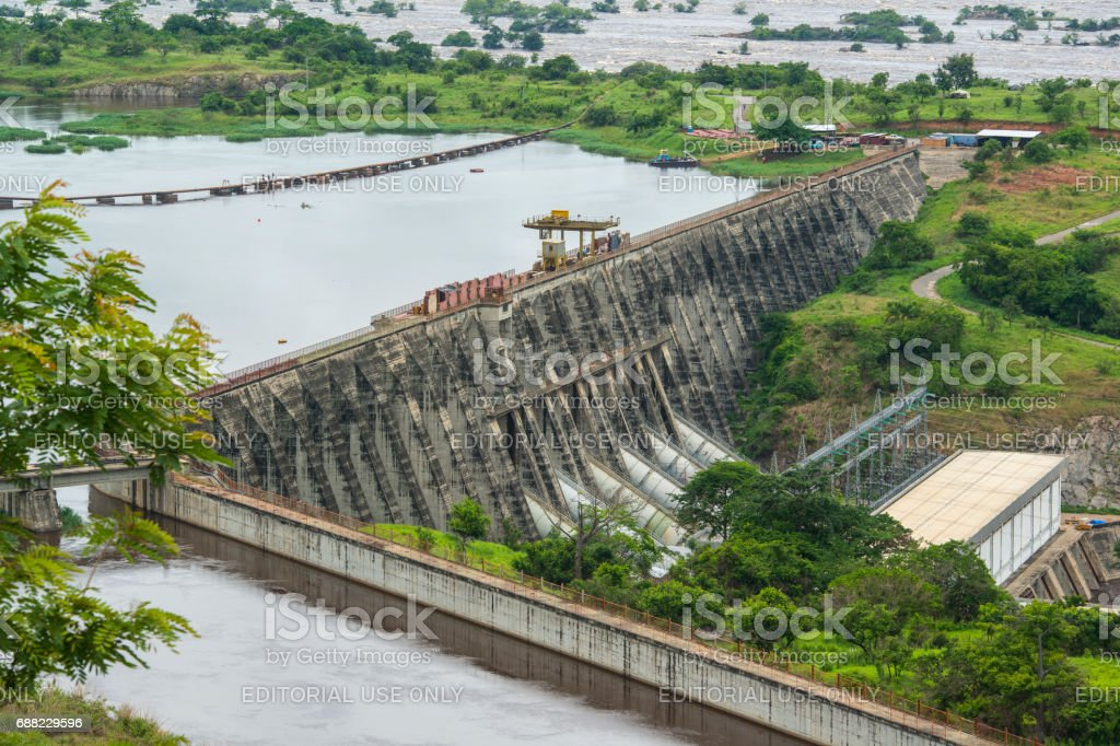 Inga Dams, Africas largest hydroelectric power plant, Congo stock photo